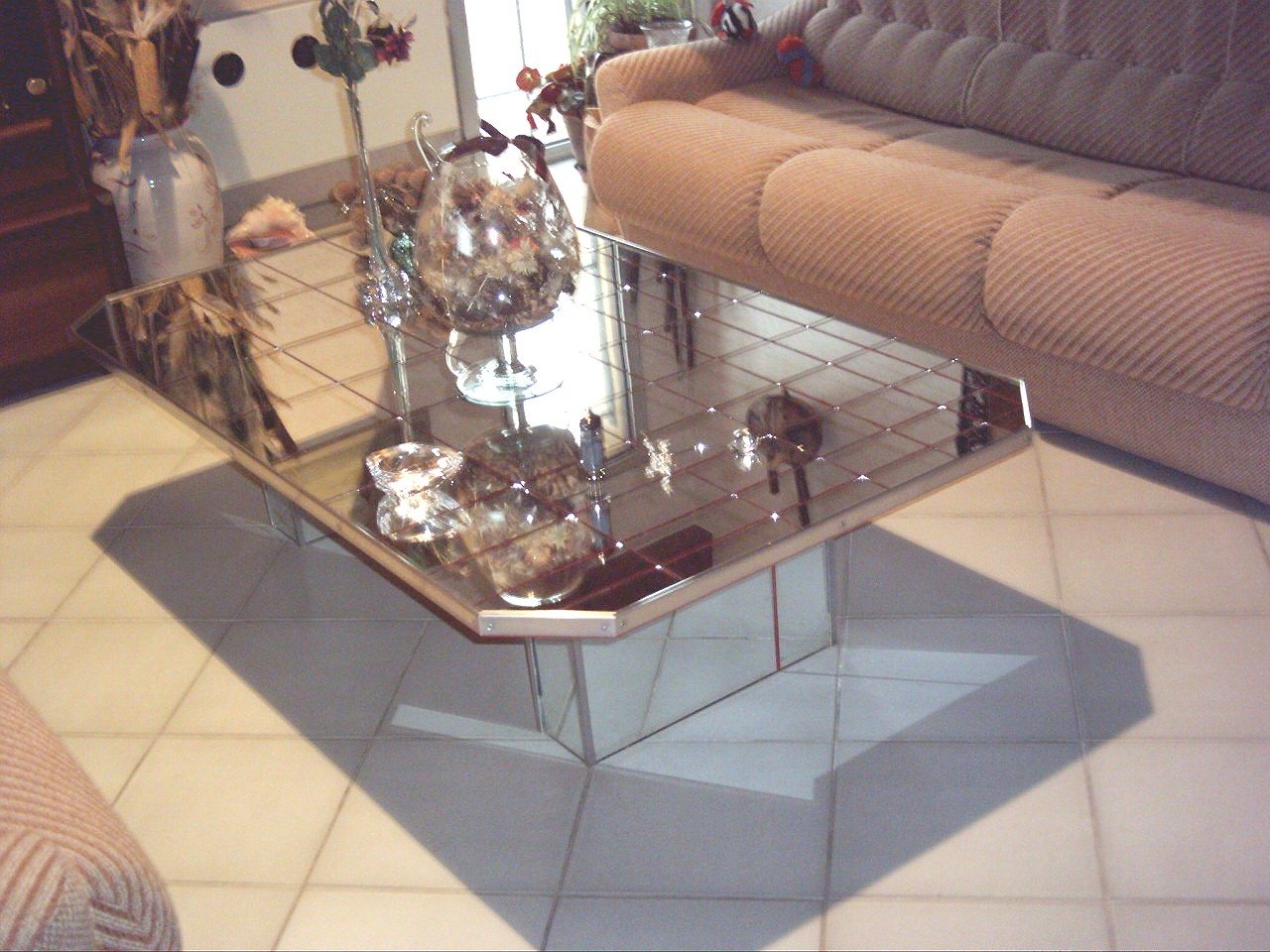 Table Basse De Salon Verre Design Moderne Alu A Vendre