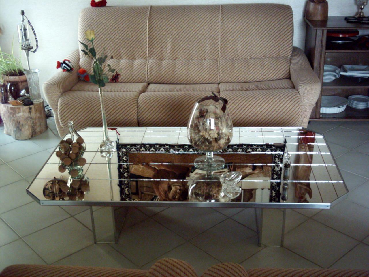 Table Basse Verre Design Contemporain Moderne En Vente